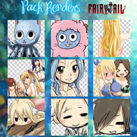 Pack Renders Fairy Tail by PeaceSama