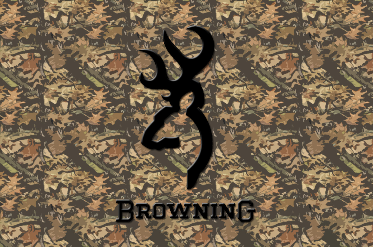 Hunting Camo Browning Logo Wallpaper
