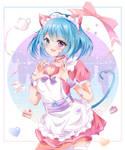 com: pastel cat maid