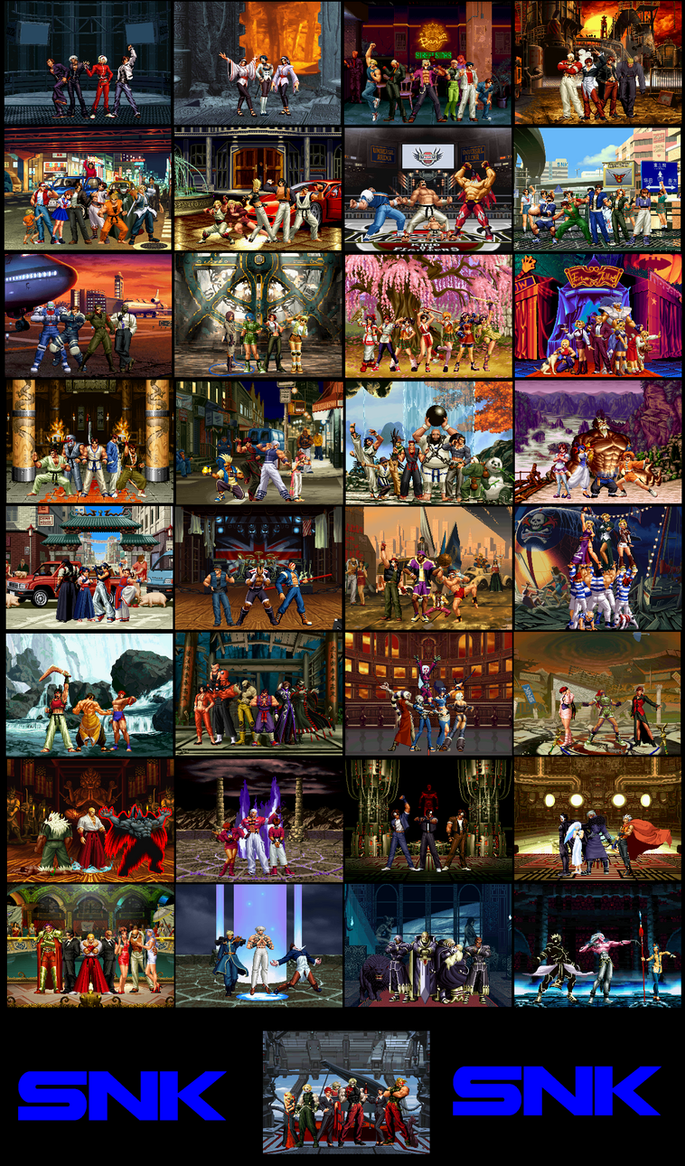 KOF Dream Team Stages by lonerpx