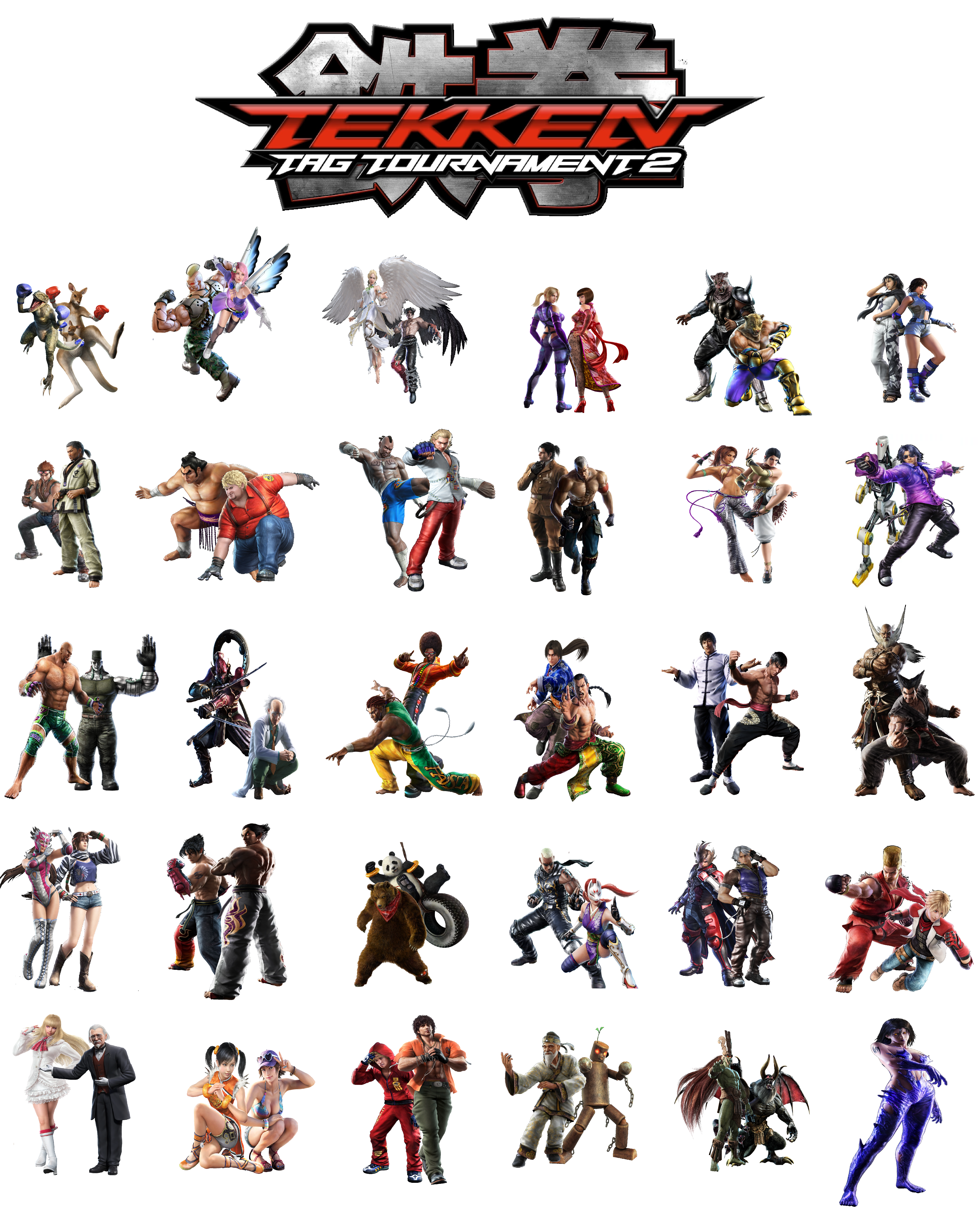 Tekken Tag Tournament 2 Characters By Lonerpx On Deviantart
