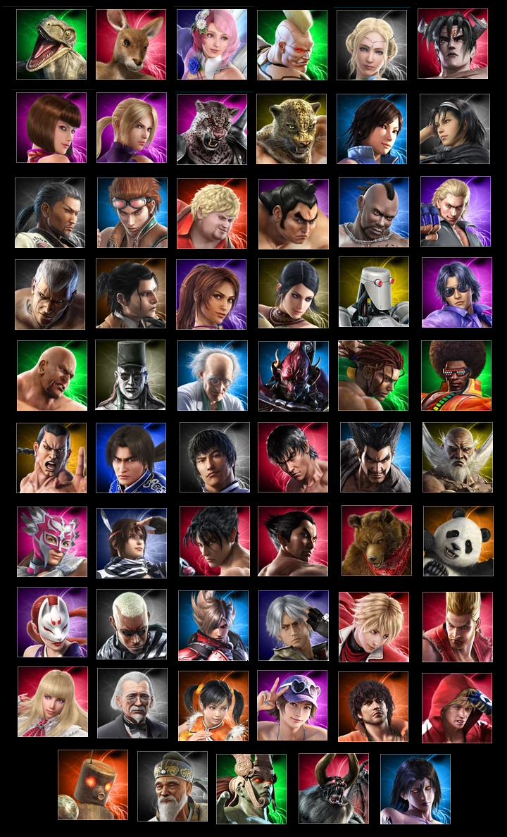 Tekken Tag Tournament 2 Characters Icons By Lonerpx On Deviantart
