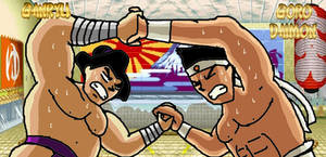 KOF X TEKKEN: Ganryu and Goro Daimon
