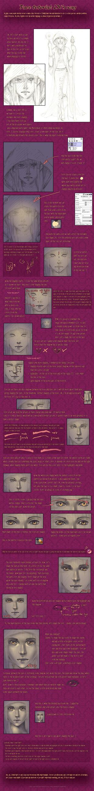 Face tutorial by Lady-Werewolf