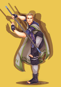Bo staff ninja