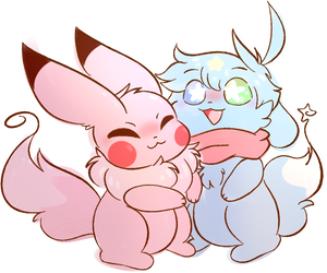 (Gift) Fluffy Hugs! by PikacheeksAnimations