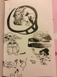 Inktober (Days 1-5) by PikacheeksAnimations