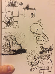 Inktober (Days 11-14) by PikacheeksAnimations