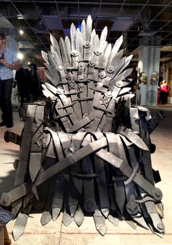 Cardboard Iron Throne