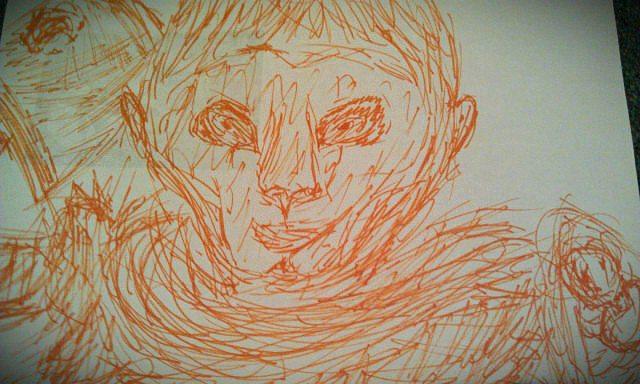 Wu`Kong pen drawing by Shellehshelleh