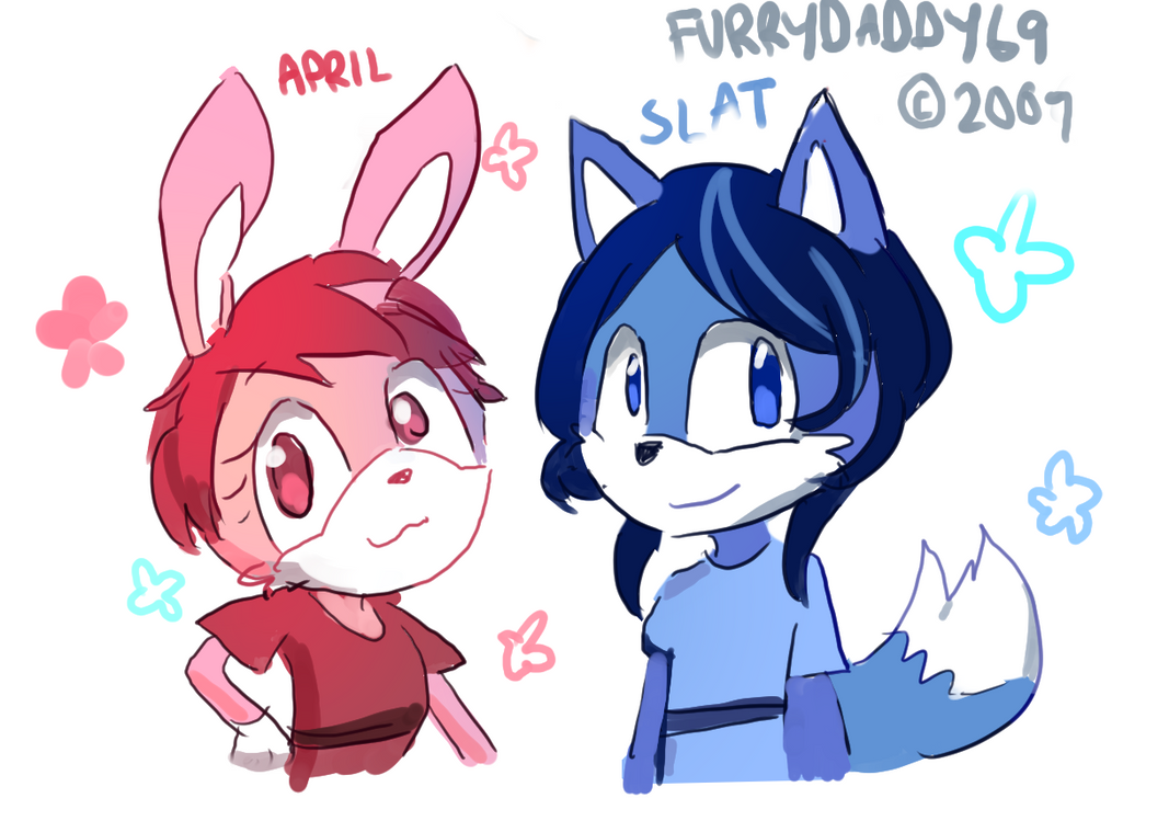 April and Slat by FurryDaddy69