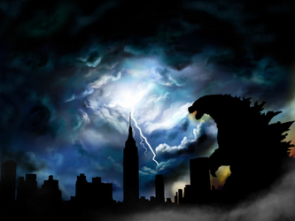 Godzilla Takes New York by icjaker