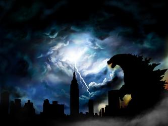 Godzilla Takes New York by icjaker