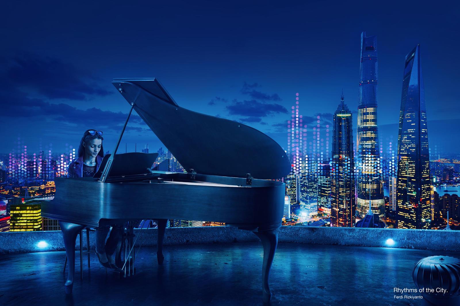 Rhythms of the City - Piano