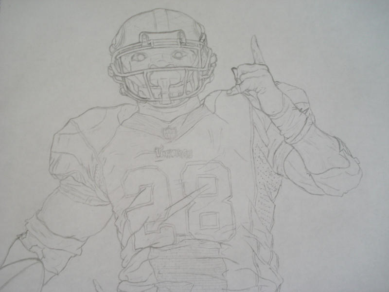 Adrian Peterson - All Day by asianblasianwasian on DeviantArt