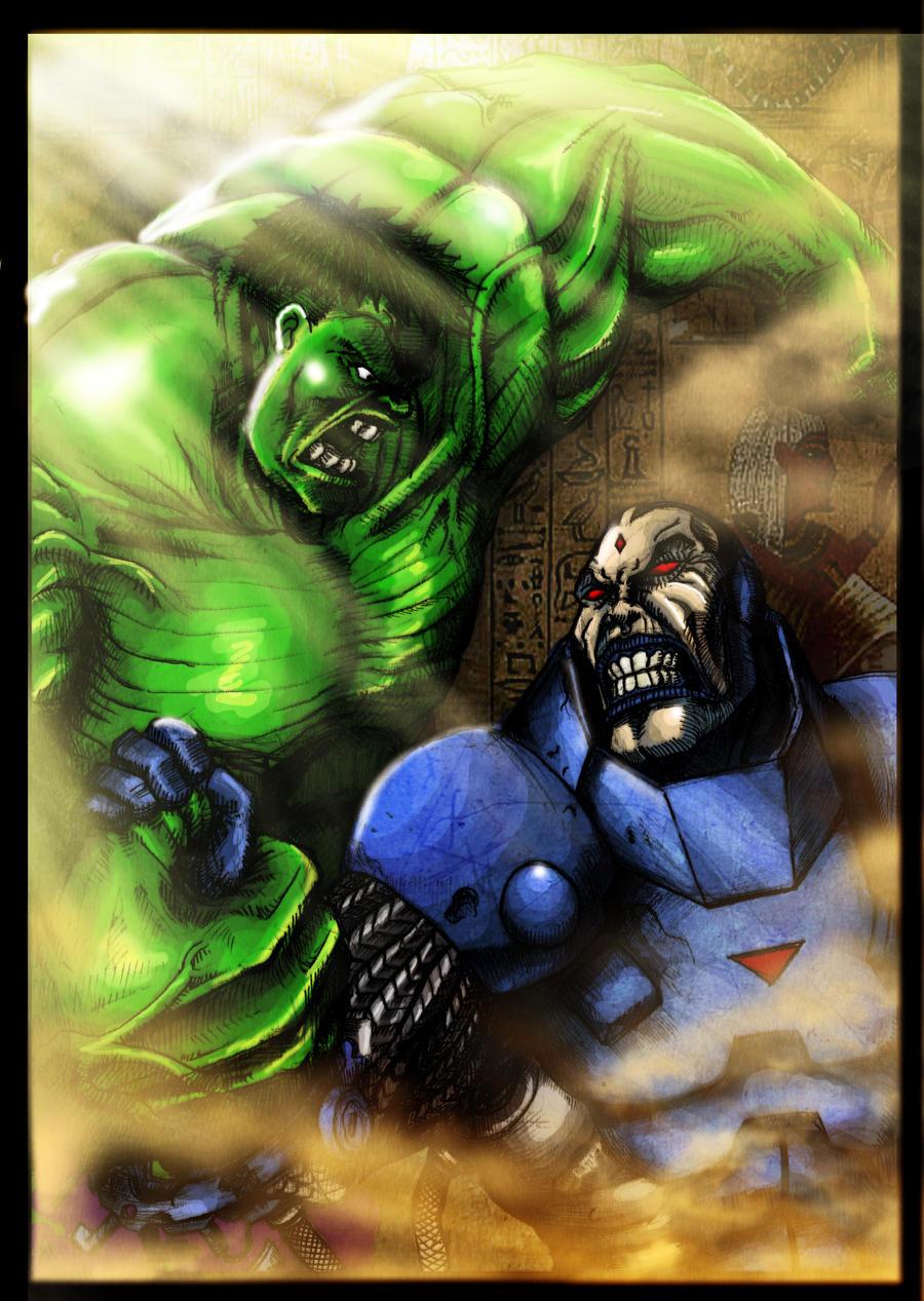 Hulk vs Apocalypse Colored by rapnex on DeviantArt