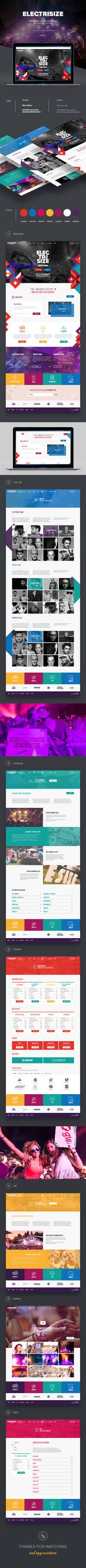 Electrisize Website Design #2016