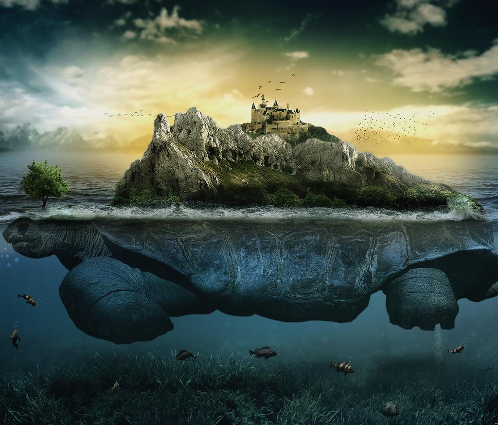 Island On The Tortoise by FarokOmar