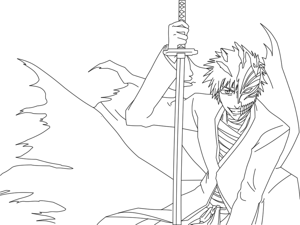 ichigo coloring pages - photo#11