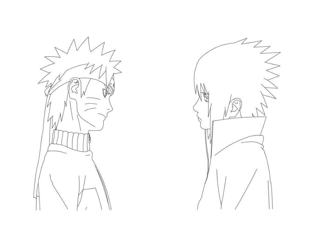 Sasuke Lineart : Naruto sasuke lineart by pablofcb on deviantart