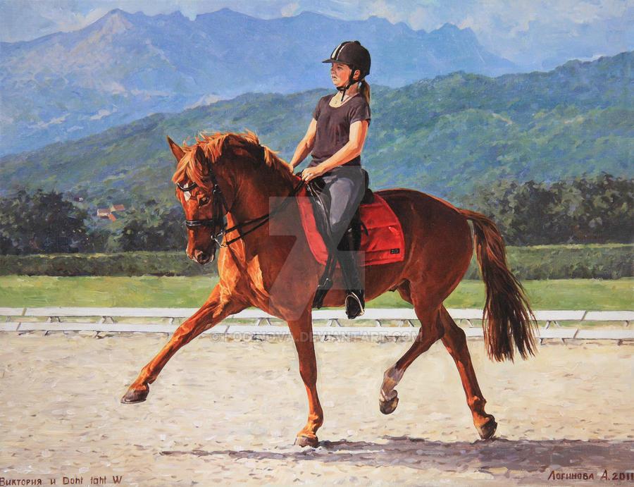 Viktoriya and pony dont taht W by Loginova
