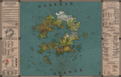 Arganorh - Twin-Continents Map