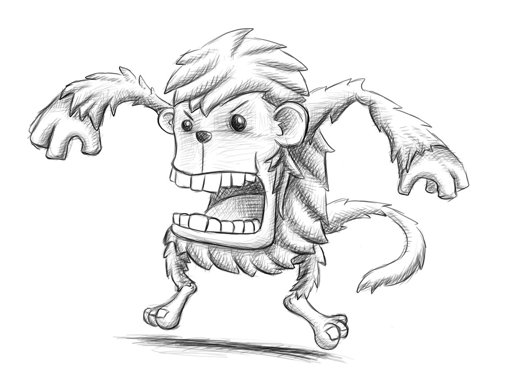 image gallery monkey drawings sketches