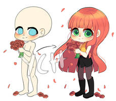 YCH Roses (OPEN) by hatsukibambi