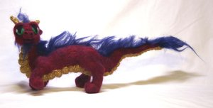 Needle Felted Asian Dragon by The-GoblinQueen