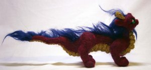 Needle Felted Asian Dragon II by The-GoblinQueen