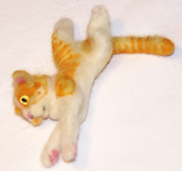Needle Felted Orange Tabby Cat by The-GoblinQueen
