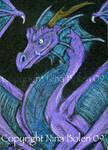Purple Dragon ACEO