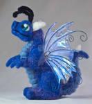 Felted Baby Fairy Dragon Plush