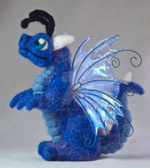 Felted Baby Fairy Dragon Plush