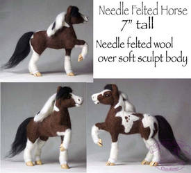Needle Felted Horse Pictures by The-GoblinQueen
