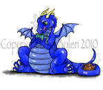 Dragon Drinking Tea