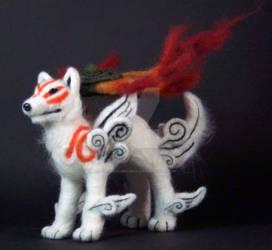 Okami Amaterasu Wolf Plush by The-GoblinQueen