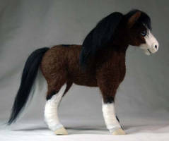 Needle Felted Welsh Pony by The-GoblinQueen