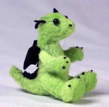 Lime Green Baby Dragon Plush