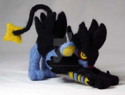 Needle Felted Luxray by The-GoblinQueen