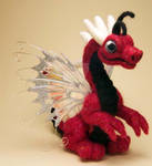 Red and Black Dragon Flutter by The-GoblinQueen