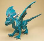 Turquoise Soft Sculpt Dragon