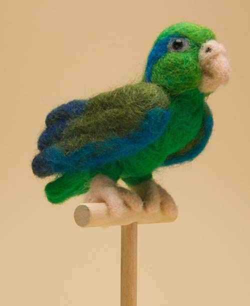 Needle Felted Parrotlet by The-GoblinQueen