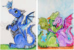 Dragon ACEOs week 9 set 1