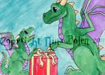 For Me Christmas Dragons ACEO