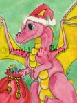 Santa Dragon ACEO