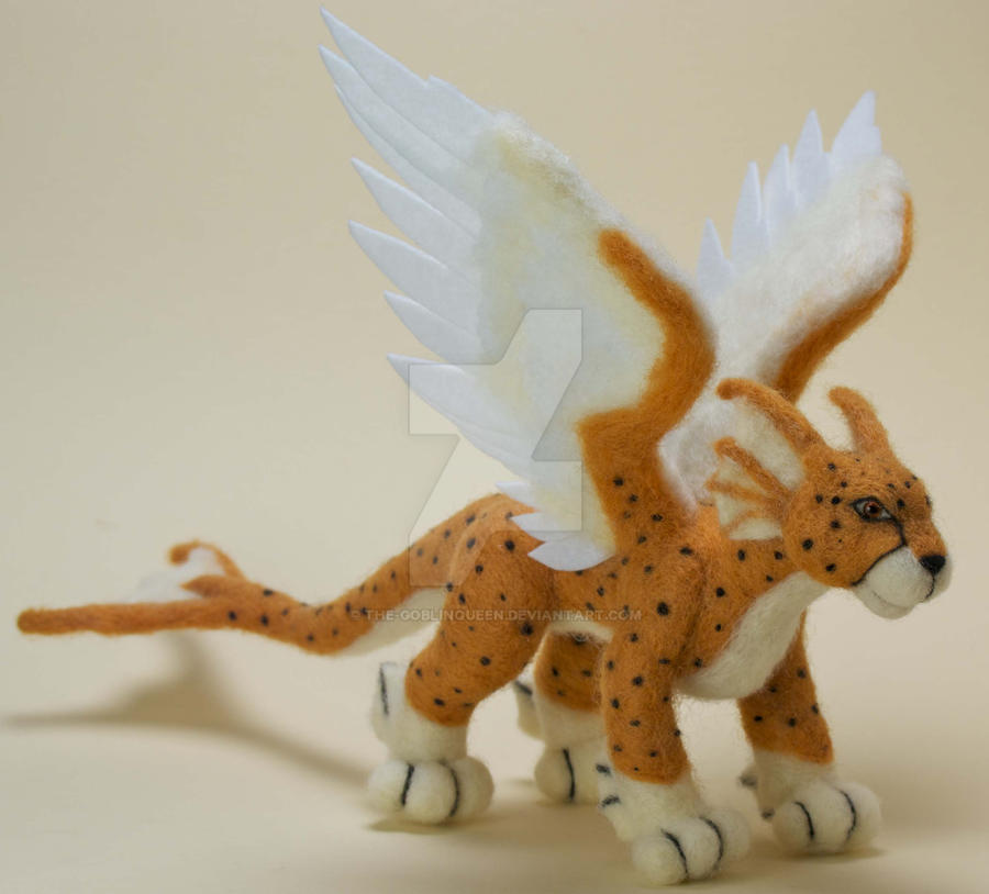 Cheetus Commission Needle Felted Plush by The-GoblinQueen