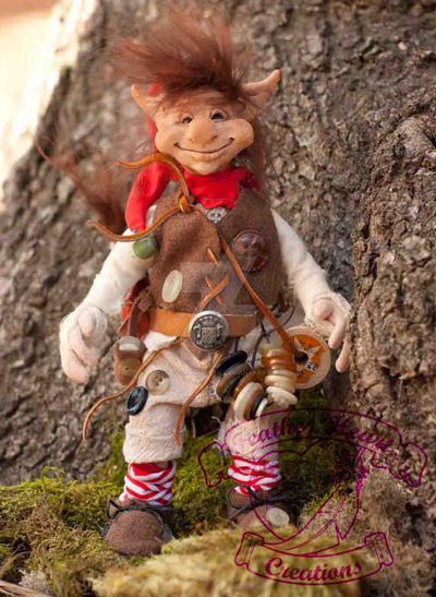 Pippin the Goblin Art Doll Outside by The-GoblinQueen