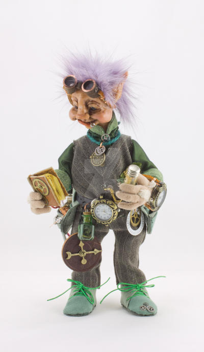 Gizmo Silversprocket The Watchmaker goblin doll by The-GoblinQueen