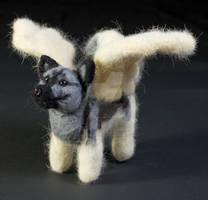 Needle Felted Elkhound Angel